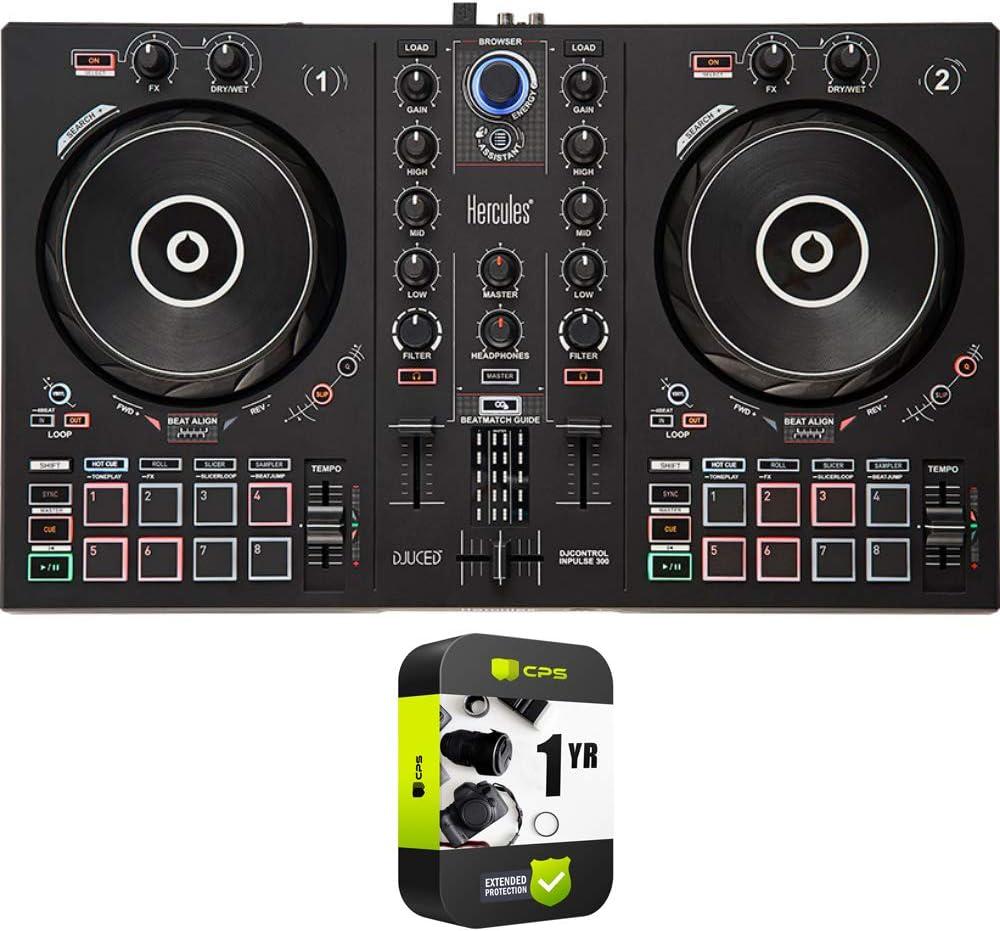 HERCULES AMS-DJC-INPULSE-200 DJControl Industry No. 1 Inpulse 300 DJ 2-Channel Sales
