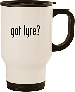 got lyre? - Stainless Steel 14oz Road Ready Travel Mug, White