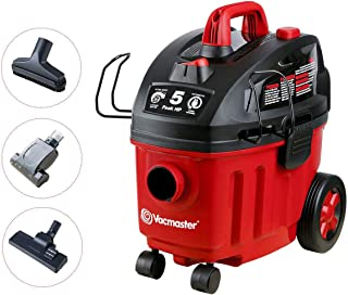 Vacmaster Shop Vac 5 Peak HP 4 Gallon Wet Dry Vacuum Cleaner with Heap Filter 2-Stage Motor Auto Cord Rewind for Powerful ...