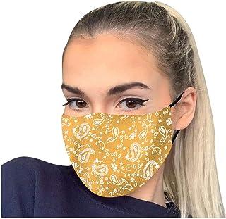 PPangUDing Mundschutz mit Motiv Waschbar Wiederverwendbar Baumwolle Atmungsaktive Mund und Nasenschutz Halstuch Bandana Schlauchschal für Damen Herren