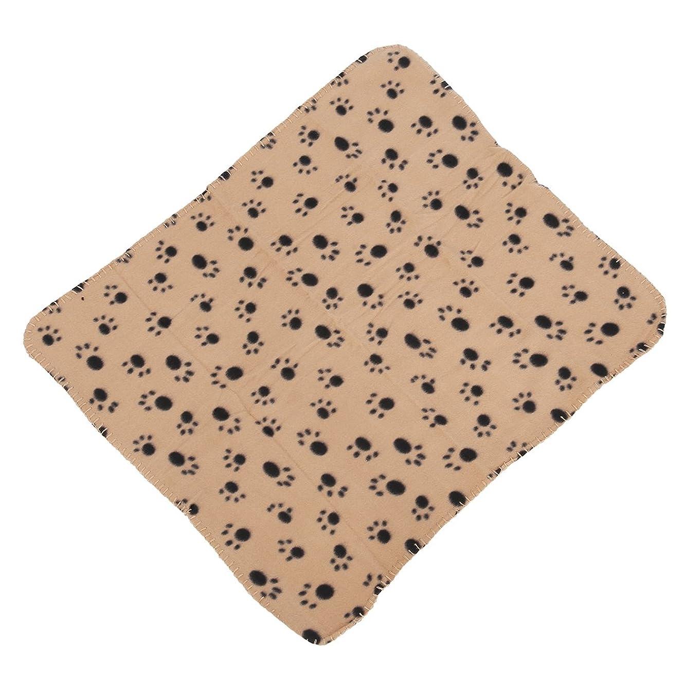 重なる肥沃なインセンティブGaoominy ペットのブランケット フリースブランケット 犬の毛布 動物ブランケット猫ペット毛布 60x70cm (クリーム)