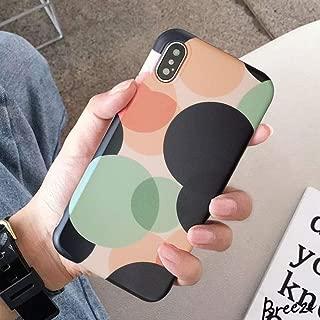 BONTOUJOUR iPhone XS Max Phone Case, Beautiful Art Polka Dot Pattern Serie Cover Case Soft TPU 360 Degree Good Protection- Big polka dot