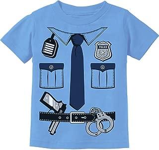 Police Cop Uniform Halloween Costume Policeman Suit Toddler Kids T-Shirt