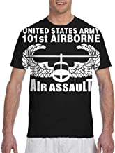 US Army 101st Airborne Air Assault Men's 3D Printed Classic Crew Neck Short Sleeve T-Shirt Duplex Printing T-Shirt