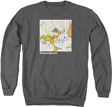 Looney Tunes Squad Goals Unisex Adult Crewneck Sweatshirt for Men and Women