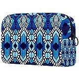 Maquillaje Cosmetic Bag Monedero para Mujer, Moderno y Espacioso Bolso de Mano Ikat Geometric Folklore Ornament