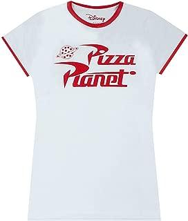 Toy Story Pizza Planet Logo Ringer Women's T-Shirt