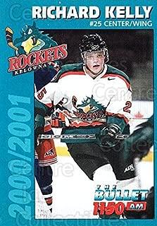 (CI) Richard Kelly Hockey Card 2000-01 Kelowna Rockets 10 Richard Kelly