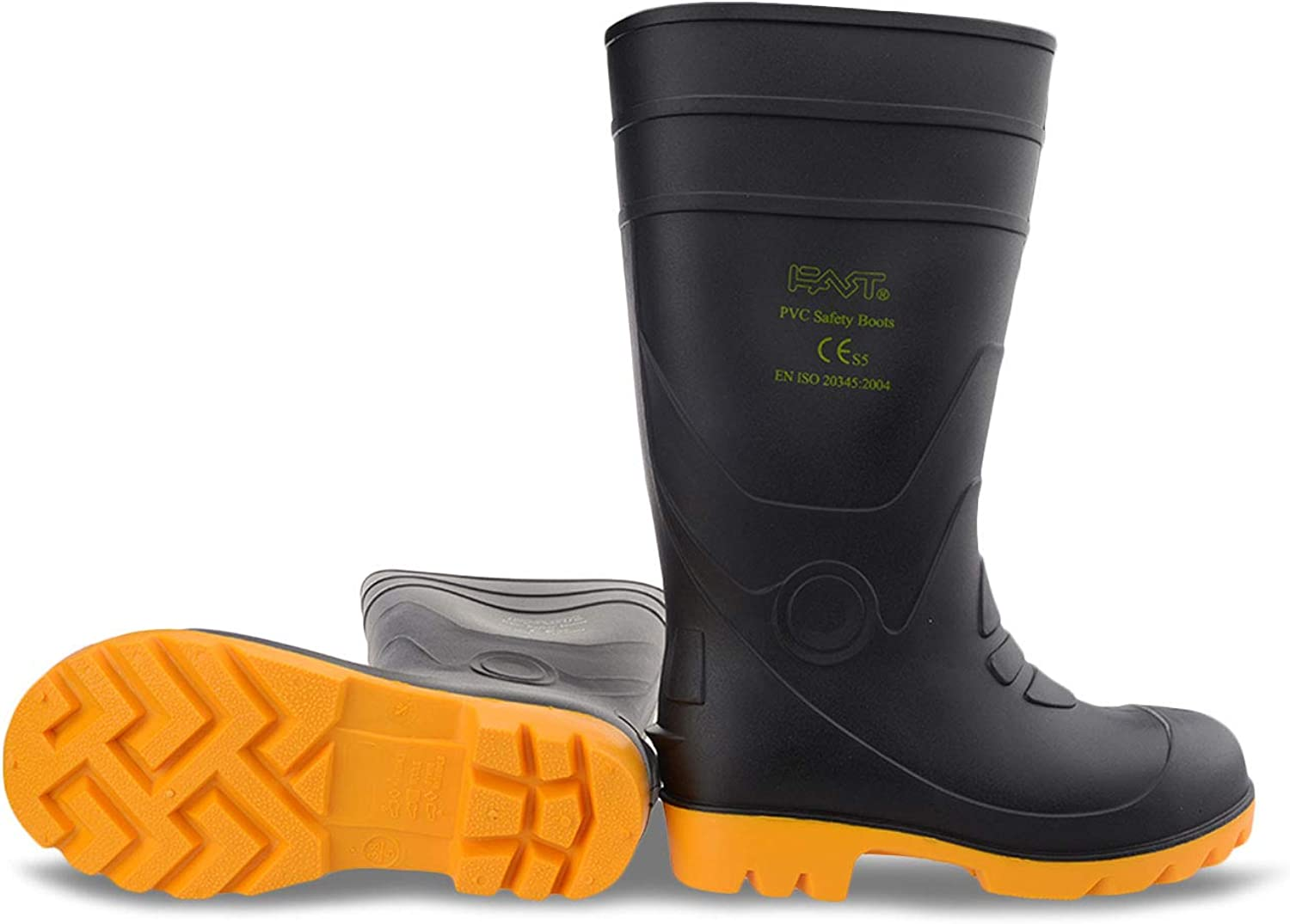 """  FAST Official 14"""" Men Steel Toe/Midsole/Shank Safety Work Boots Fishing Flood Snow Shoe   Fire & Safety Boots"""