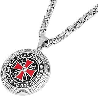 Anhänger Tempelritter Set Halskette 925 Silber Freimaurer Kreuzritter Templar