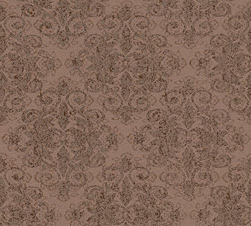 A.S. Création Vliestapete mit Glitter Midlands Tapete mit Ornamenten barock 10,05 m x 0,53 m braun metallic Made in Germany 319903 31990-3