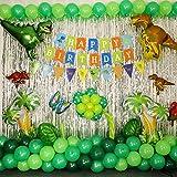 JWTOYZ 72 Stück Luftballons Grün Blau Rosa Weiß Konfetti Ballons mit Band für Geburtstag, Babyparty, Hochzeit - Grün - 3