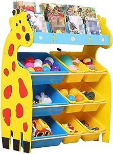 Children Finishing Storage Rack For Organizing Toy Storage Baby Toys Kids Toys Dog Toys Baby Clothing Children Books  Color Yellow  Size Free size