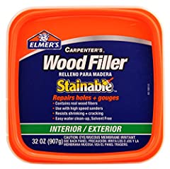 Contains real wood fibers for superior sanding, staining and painting Can be used with high speed sanders Firmly holds screws and nails Resists shrinking and cracking Easy water clean up