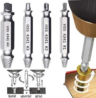 Phego Dañado extractor de tornillos, tornillo removedor y Extractor Set - Conjunto de 4 Dañado