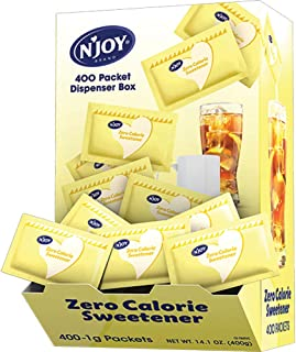 N'Joy Zero Calorie Sweetener, Yellow Sucralose Packets, 400 Count