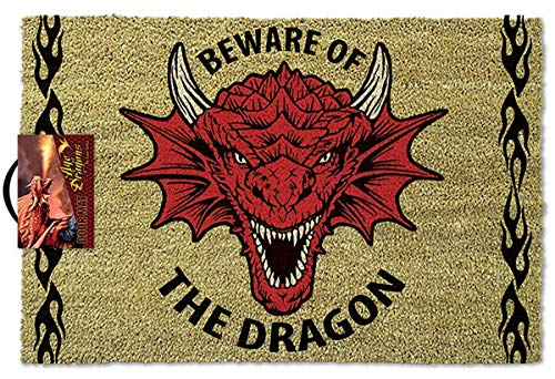 Close Up Felpudo Anne Stokes - Beware of The Dragon