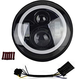 AUSI DOT Approved 7 inch LED Headlight Motorcycle Headlight for Harley Davidson Yamaha Roadstar Rod FatBoy Heritage Softail Slim Deluxe Switchback Road King Touring Ultra Classic Electra Street Glide