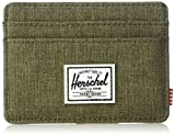 Herschel Charlie RFID Card Case Wallet, Light Grey Crosshatch, One Size