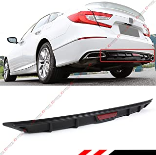 Fits for 2018-2019 Honda Accord 10th Gen Sport JDM 3 Pieces Design Front Bumper Lip Splitter - Black
