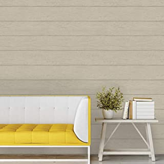 Tempaper Twig Textured Shiplap | Designer Removable Peel and Stick Wallpaper