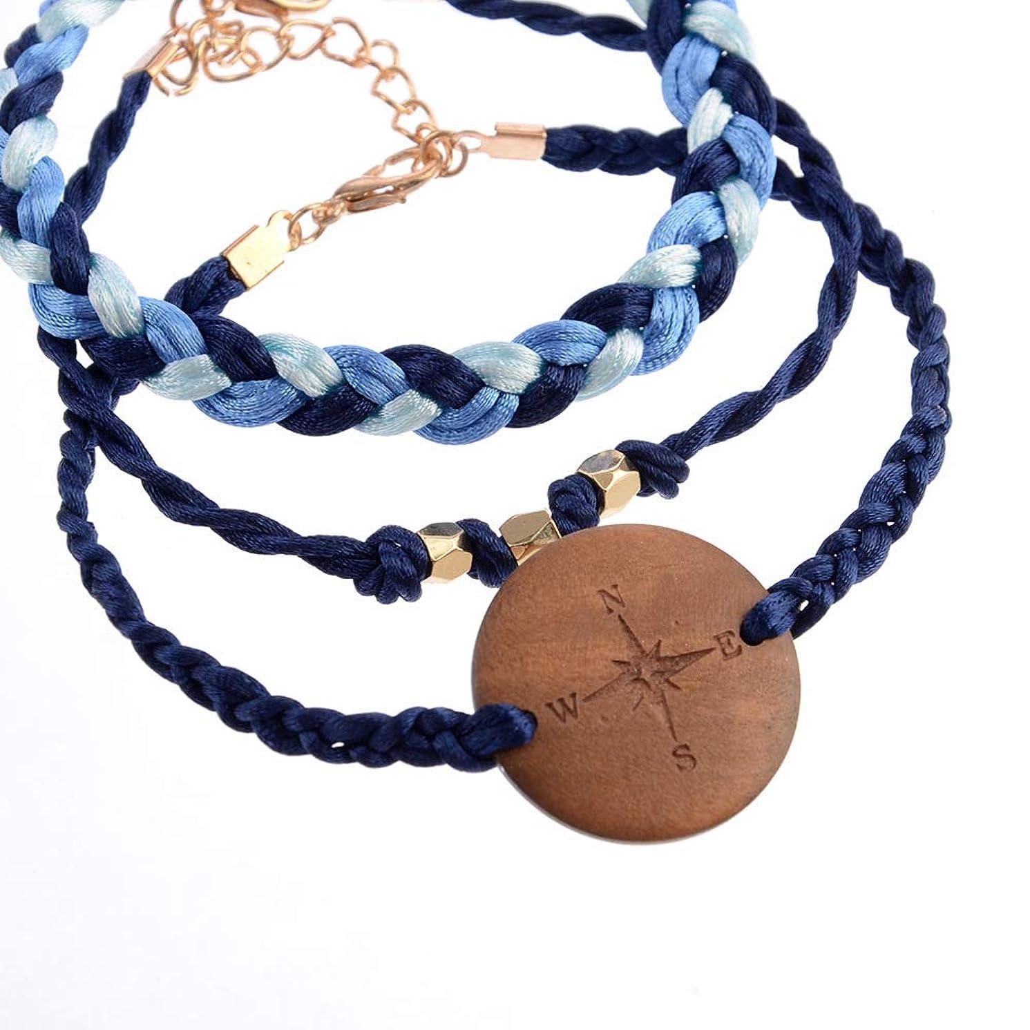 Handmade Braided Wax Rope Adjustable Strand Wrap Bracelet Set Waterproof Wave Shell Charm Stretch Knot String Thread Bracelets Anklets Pure Life Friendship Jewelry