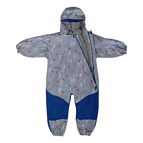 acffa958a JAN & JUL Kids Water-Proof Fleece-Lined Rain Suit One-Piece Hooded