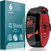 IQ Shield Matte Screen Protector Compatible with Samsung Gear Fit 2 Pro (6-Pack) Anti-Glare Anti-Bubble Film