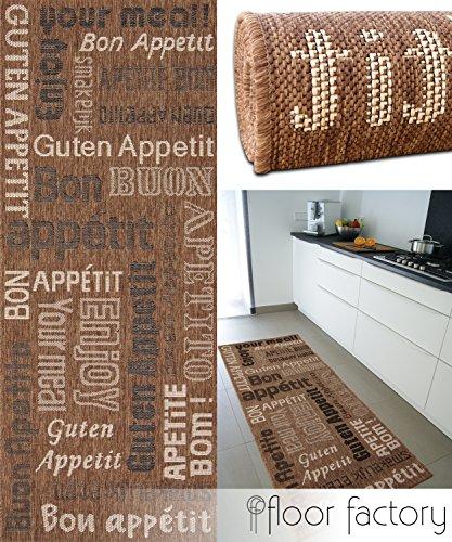 floor factory Küchenteppich Salt&Pepper schwarz 80x200 cm - günstiger Küchenläufer