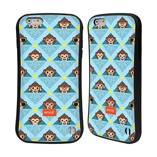 Head Case Designs Oficial Emoji Monos Patrones 2 Carcasa híbrida Compatible con Apple iPhone 6 Plus/iPhone 6s Plus