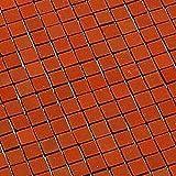 MiniMundus Terrakotta-Fussbodenfliesen, quadratisch für das Puppenhaus