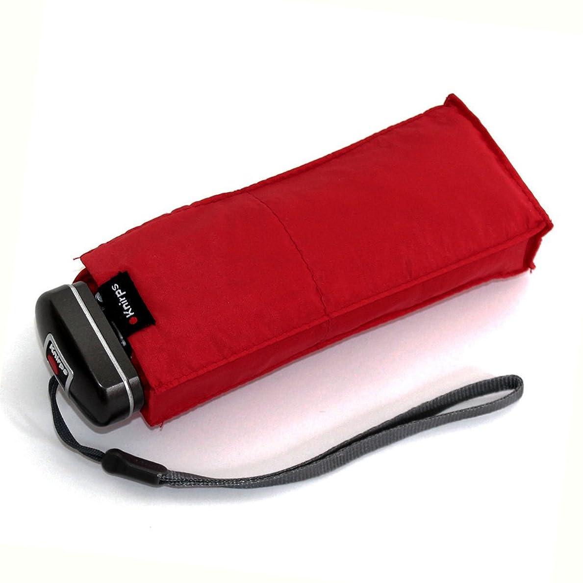 チーズ研磨もう一度(クニルプス) Knirps Travel (トラベル) コンパクト 折りたたみ傘 メンズ レディース Red [815-150]