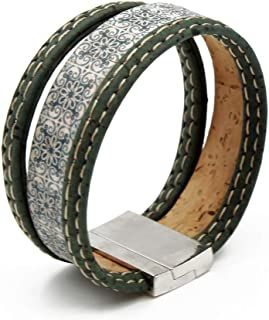 Handmade 100% Natural Portuguese Cork Bracelet with Magnetic Clasp