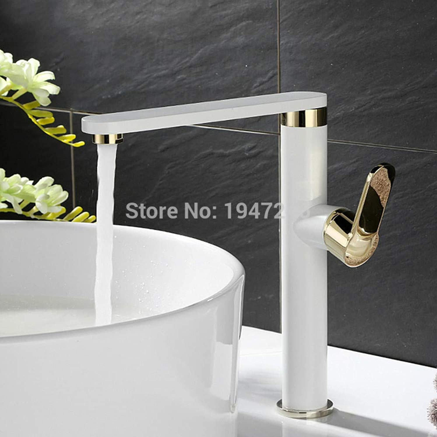 Bathroom Sink Tap High Quality Swivel Contemporary Solid Brass Single Handle High Body Bathroom Vessel Sink Faucet