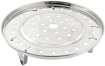 Potato001 Stainless Steel Steamer Rack Insert Stock Pot Steaming Tray Stand Cookware Tool 21.5cm Silver