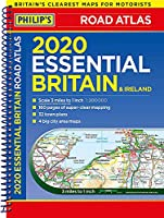 2020 Philip's Essential Road Atlas Britain and Ireland: (A4 Spiral binding) (Philip's Road Atlases)