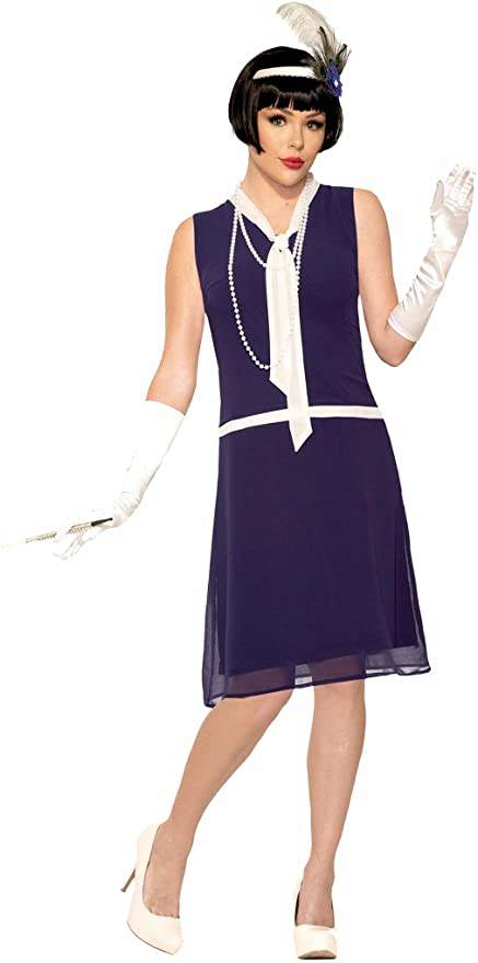 1920s Costumes: Flapper, Great Gatsby, Gangster Girl Forum Novelties womens Roaring 20s Dreaming Daisy Costume Dress  AT vintagedancer.com