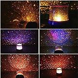 Starlight Projecteur Led Night Light Ciel Star Moon Maître Enfants Enfants Bébé Romantique Coloré Décor Batterie Lampe de Projection Pourpre