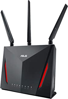 ASUS RT-AC86U, AC2900 Dual Band Gigabit WiFi Gaming Router with MU-MIMO, AiMesh for mesh wifi system, AiProtection network...