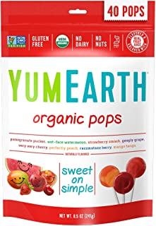 YumEarth Organic Lollipops, Assorted Flavors, 8.5 Ounce, 40 Lollipops