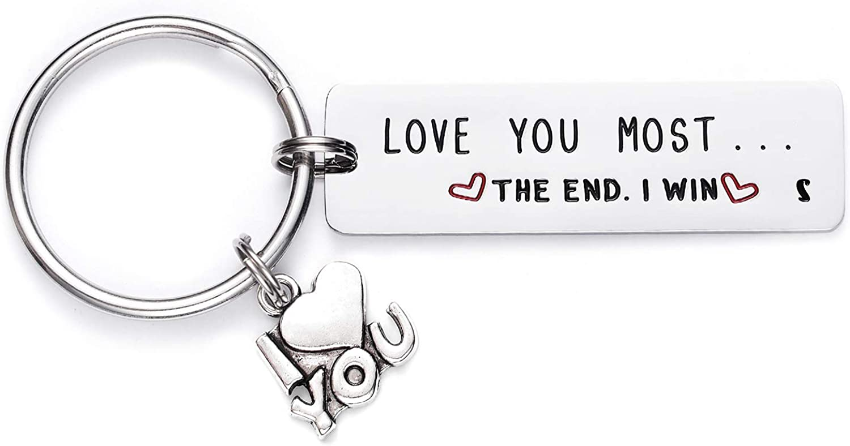 Melix Home Boyfriend Girlfriend Gifts Letter Keychain Gift for Him Her Valentine Keychains
