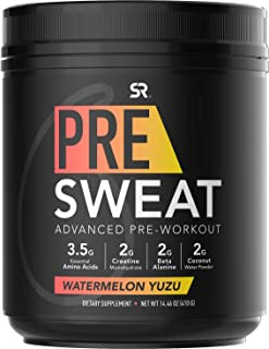 PRE Sweat Advanced Pre-Workout Energy Powder | 9 Essential Amino Acids, Organic Caffeine + L-theanine with German Sourced ...