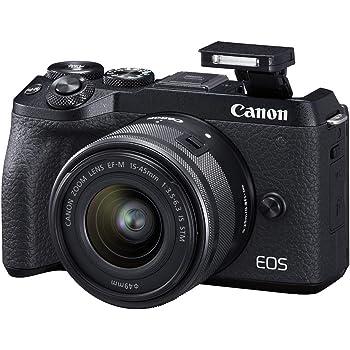 Canon EOS M6 Mark II Mirrorless Camera for Vlogging + 15-45mm Lens, CMOS, APS-C Sensor, Dual Pixel CMOS Auto Focus, Wi-Fi,Bluetooth and 4K Video