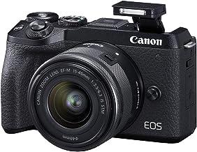 Canon EOS M6 Mark II Mirrorless camera for Vlogging + 15-45mm lens, CMOS, APS-C Sensor, Dual Pixel CMOS Auto Focus, Wi-Fi,...