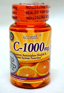 30 Pills Acorbic C 1000 Mg Vittamin C Supplement Bright Clear Faster Whitening Ascorbic Acid