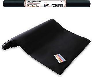 comprar comparacion Vinilo Pizarra Negra- Pizarra Adhesiva de Papel Adherente - 43cm x 210cm y 5 tizas - Ezigoo