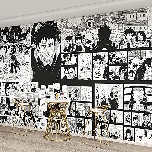 Dibujos Animados Anime Naruto Papel Tapiz Dormitorio Cabecera Sala De Estar Sofá Fondo Revestimiento De Paredes Uchiha Obito Papel Tapiz 350(L) x245(H) cm