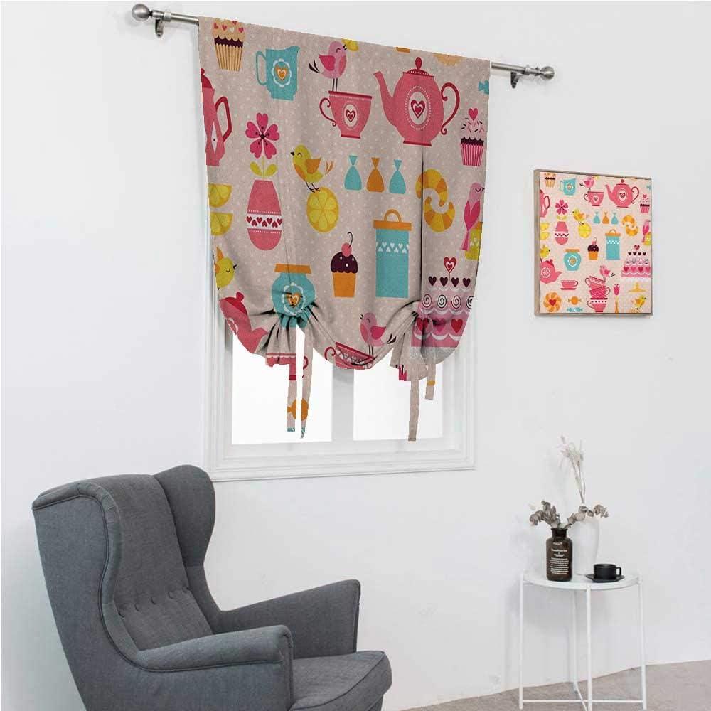 Blackout Curtain Tea Party Kids Time Windowsill Bedroom 価格 交渉 送料無料 好評 Cute