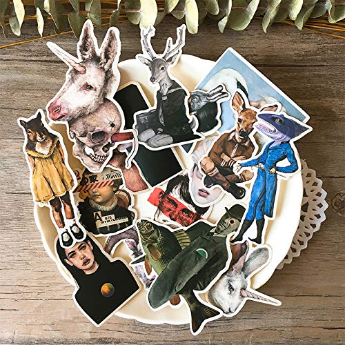 17PCS funny Sticker DIY Scrapbooking Bottom Collage Phone Computer Diary Happy Planner Decoration Sticker