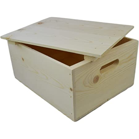 11 Bamboo Wood Stash Storage Box by Trademark Innovations Brown